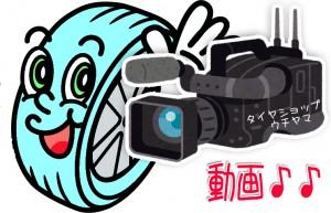 タイヤとビデオカメラ